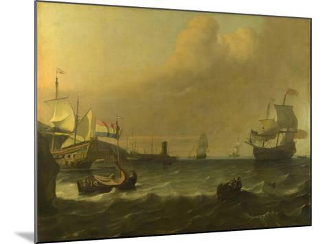 Dutch Men-Of-War Entering a Mediterranean Port, 1681-Ludolf Bakhuizen-Mounted Giclee Print