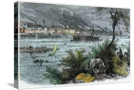 View of St Louis, Missouri, USA, C1880--Stretched Canvas Print