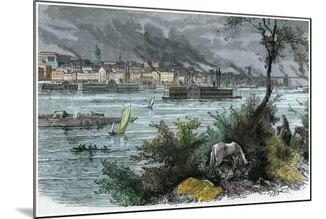 View of St Louis, Missouri, USA, C1880--Mounted Giclee Print