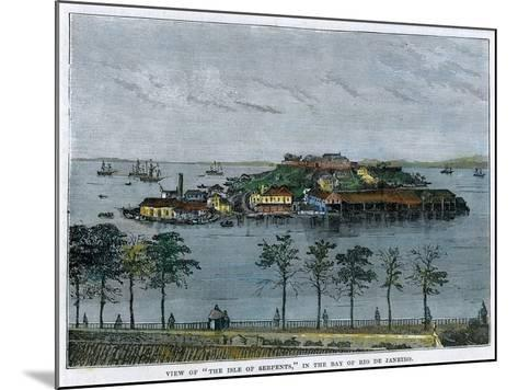 View of the Isle of Serpents, in the Bay of Rio De Janeiro, Brazil, C1880--Mounted Giclee Print
