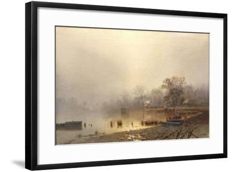 Mist. the Red Pond in Moscow in Autumn, 1871-Lev Lyvovich Kamenev-Framed Art Print