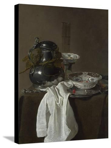 Still Life with a Pewter Flagon and Two Ming Bowls, 1651-Jan Jansz Treck-Stretched Canvas Print