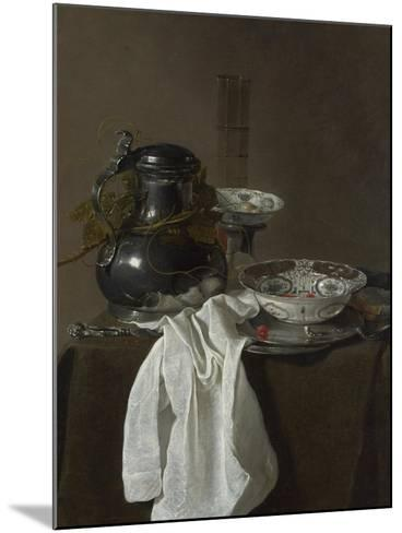Still Life with a Pewter Flagon and Two Ming Bowls, 1651-Jan Jansz Treck-Mounted Giclee Print
