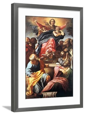 The Assumption of the Blessed Virgin Mary, 1600-1601-Annibale Carracci-Framed Art Print