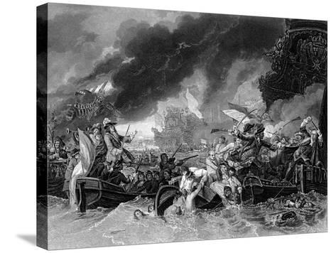 Battle of La Hogue, 19 May 1692-Benjamin West-Stretched Canvas Print
