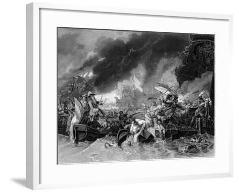 Battle of La Hogue, 19 May 1692-Benjamin West-Framed Art Print