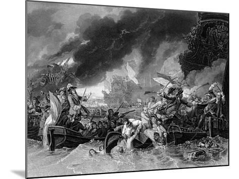 Battle of La Hogue, 19 May 1692-Benjamin West-Mounted Giclee Print