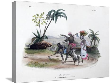 Gardeners, 1828- Marlet et Cie-Stretched Canvas Print