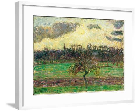 The Meadows at Éragny, Apple Tree, 1894-Camille Pissarro-Framed Art Print