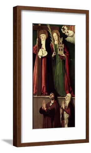 Catholic Monarchs with Saints Helena and Barbara--Framed Art Print