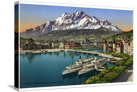 Lucerne, Switzerland, 20th Century--Stretched Canvas Print