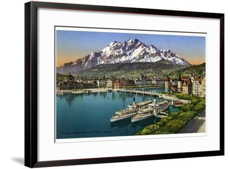 Lucerne, Switzerland, 20th Century--Framed Art Print