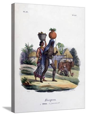 Shepherds, 1828- Marlet et Cie-Stretched Canvas Print