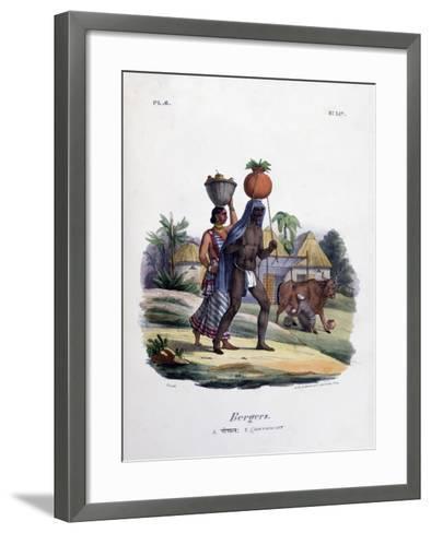 Shepherds, 1828- Marlet et Cie-Framed Art Print