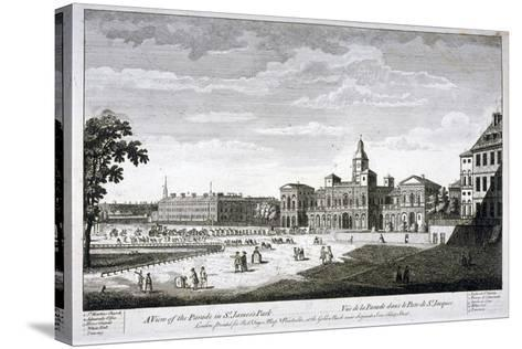 Horse Guards Parade from the South-West, Westminster, London, C1750--Stretched Canvas Print