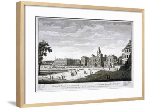 Horse Guards Parade from the South-West, Westminster, London, C1750--Framed Art Print