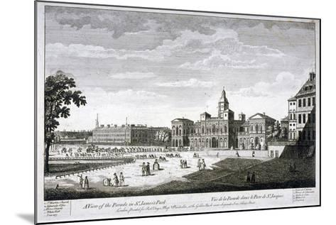 Horse Guards Parade from the South-West, Westminster, London, C1750--Mounted Giclee Print