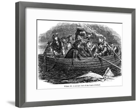 William III in an Open Boat Off the Coast of Holland--Framed Art Print