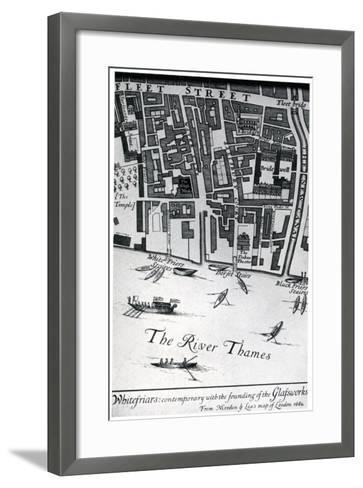 Map of London Featuring Whitefriars, 1682- Morden & Lea-Framed Art Print