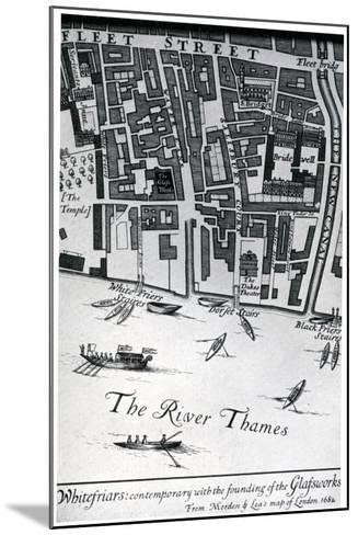 Map of London Featuring Whitefriars, 1682- Morden & Lea-Mounted Giclee Print