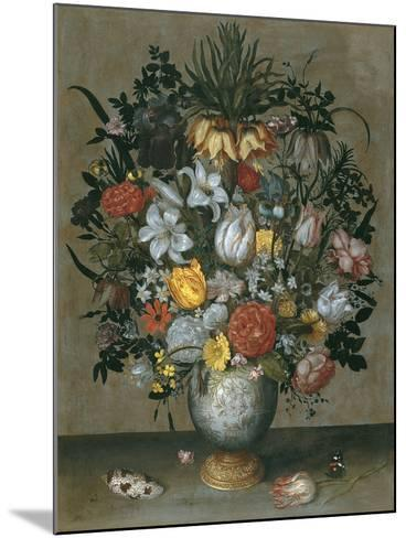 Chinese Vase with Flowers, Shells and Insects-Ambrosius Bosschaert the Elder-Mounted Giclee Print