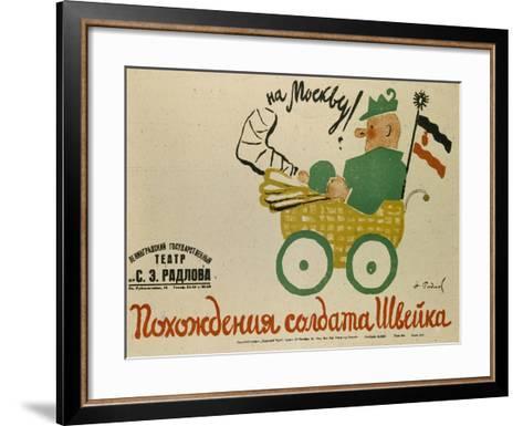Poster for the Play the Good Soldier, 1929-Nikolai Ernestovich Radlov-Framed Art Print