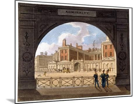 The Admiralty, Whitehall, Westminster, London, C1820--Mounted Giclee Print