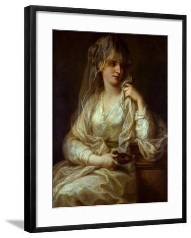 Portrait of a Lady as a Vestal Virgin, 1782-Angelika Kauffmann-Framed Art Print