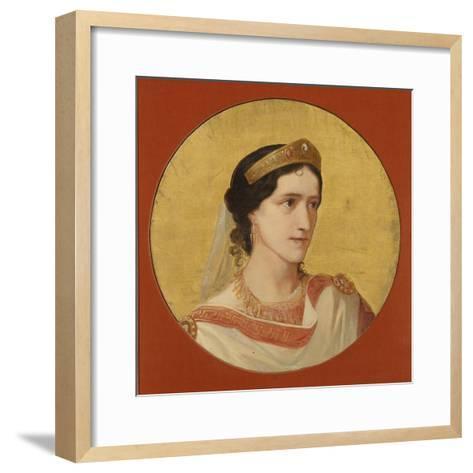 Élisa Rachel as Phèdre-Albert Anker-Framed Art Print