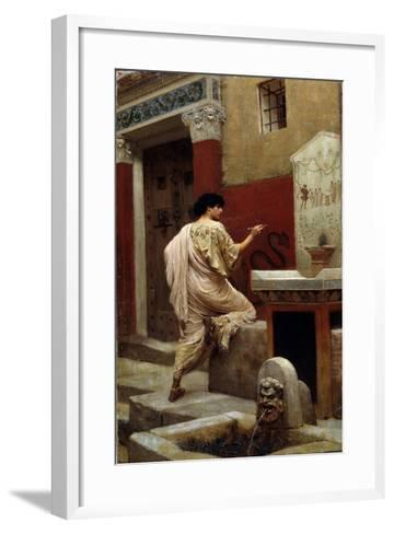 At a Wall, Pompeii-Stepan Vladislavovich Bakalowicz-Framed Art Print