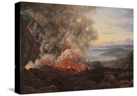 Eruption of the Volcano Vesuvius, 1821-Johan Christian Clausen Dahl-Stretched Canvas Print