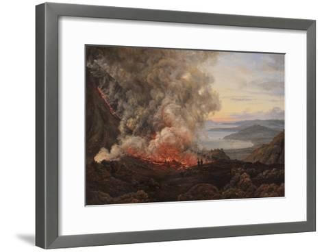 Eruption of the Volcano Vesuvius, 1821-Johan Christian Clausen Dahl-Framed Art Print