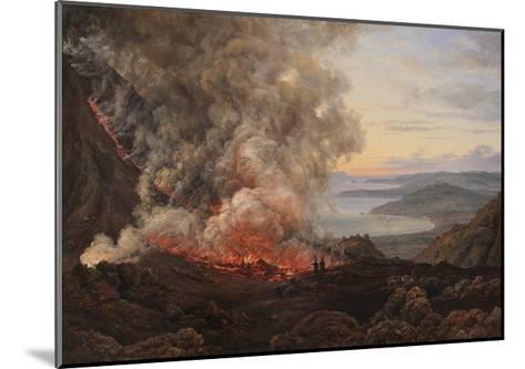 Eruption of the Volcano Vesuvius, 1821-Johan Christian Clausen Dahl-Mounted Giclee Print