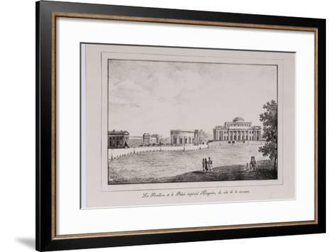 The Yelagin Palace at Saint Petersburg (Series Views of Saint Petersbur), 1820S-Alexander Pluchart-Framed Art Print
