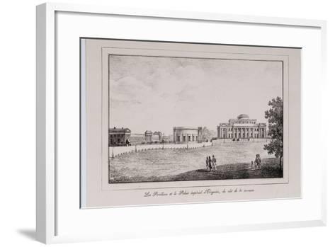 The Yelagin Palace at Saint Petersburg (Series Views of Saint Petersbur), 1820S-Alexander Pluchart-Framed Art Print