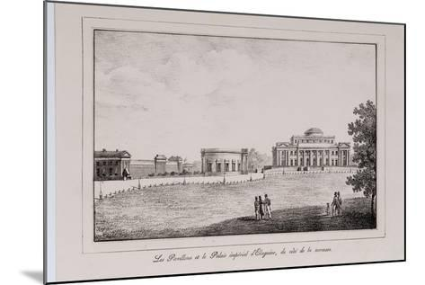 The Yelagin Palace at Saint Petersburg (Series Views of Saint Petersbur), 1820S-Alexander Pluchart-Mounted Giclee Print