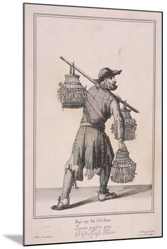 Buy My Fat Chickens, Cries of London, 1688-Marcellus Laroon-Mounted Giclee Print