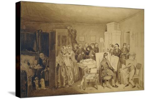 The Consequences of Fidelka's Death, 1844-Pavel Andreyevich Fedotov-Stretched Canvas Print