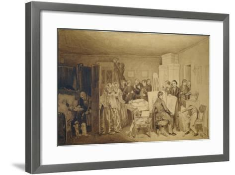 The Consequences of Fidelka's Death, 1844-Pavel Andreyevich Fedotov-Framed Art Print
