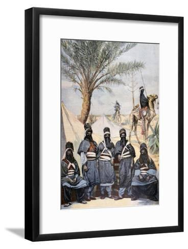 The Tuareg Caravan at the Winter Velodrome, Paris, 1894--Framed Art Print