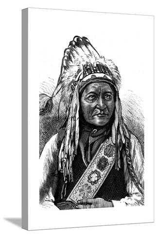 Chief Sitting Bull, American Indian, 19th Century--Stretched Canvas Print