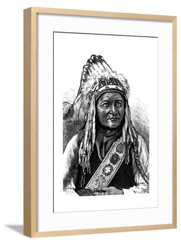 Chief Sitting Bull, American Indian, 19th Century--Framed Art Print