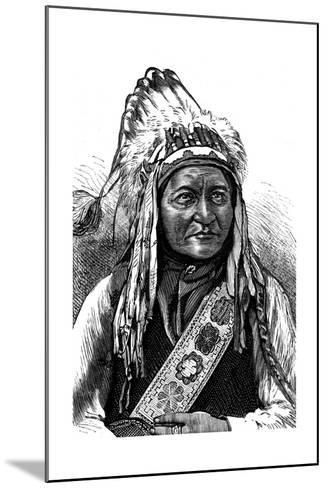Chief Sitting Bull, American Indian, 19th Century--Mounted Giclee Print