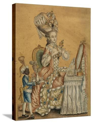 Lady at a Toilette with a Black Boy, 1770S--Stretched Canvas Print