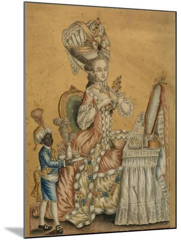 Lady at a Toilette with a Black Boy, 1770S--Mounted Giclee Print