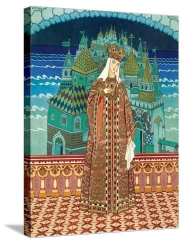 Militrissa. Costume Design for the Opera the Tale of Tsar Saltan by N. Rimsky-Korsakov-Ivan Yakovlevich Bilibin-Stretched Canvas Print