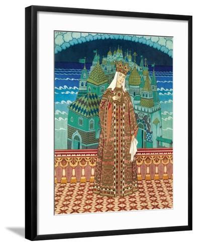 Militrissa. Costume Design for the Opera the Tale of Tsar Saltan by N. Rimsky-Korsakov-Ivan Yakovlevich Bilibin-Framed Art Print