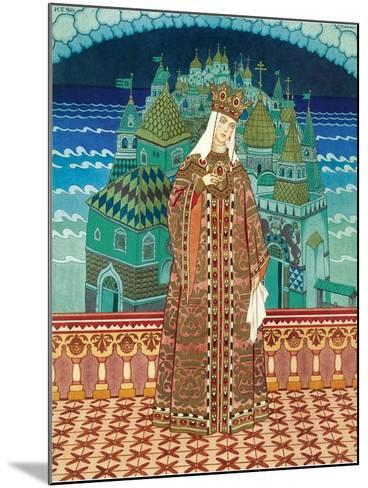 Militrissa. Costume Design for the Opera the Tale of Tsar Saltan by N. Rimsky-Korsakov-Ivan Yakovlevich Bilibin-Mounted Giclee Print
