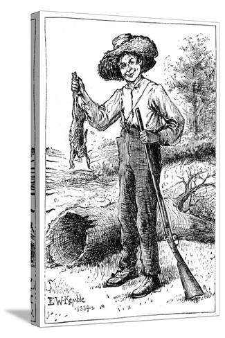 Huckleberry Finn, 1884- Chatto & Windus-Stretched Canvas Print