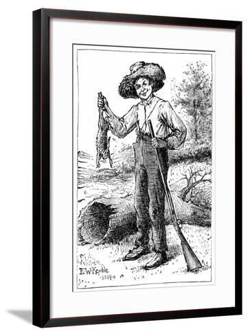 Huckleberry Finn, 1884- Chatto & Windus-Framed Art Print